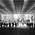 Manchester, Ludzie, BW #Anglia #Ludzie #Manchester #MorzeBałtyckie #Portret #Sopot