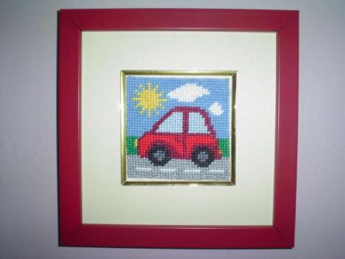 """Obrazek do dzieciecego pokoju-""""Autko"""" #obrazki #zabawki #dziecko #miniaturki #pokoj"""