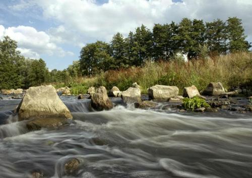 moje okolice - rzeczka obok zamku z poprzedniego zdjecia... #evasaltarski #rzeka #woda