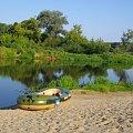 Spływ z nurtem Narwi na odcinku Łomża-Nowogród sierpień 2009.Poranek. #Narew #spływy #rzeki #krajobrazy #pontony