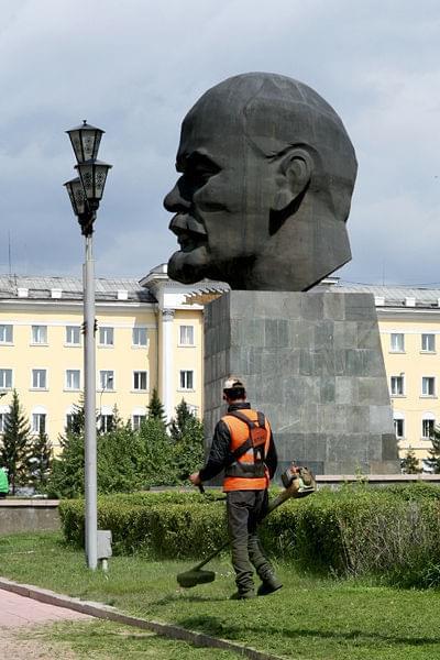 Największa głowa Lenina na świecie #rosja #lenin