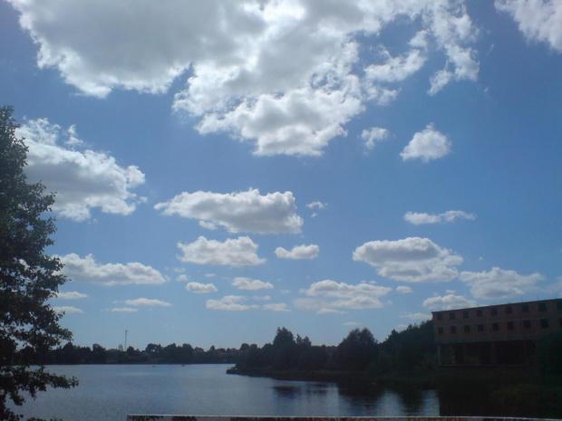 niebo w Siemkach :) #zalew #niebo #lato #nieba #marwil #hotel #jezioro #widok