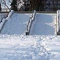 Schody chwilowo bez stopni #Warszawa #Powiśle #zima #śnieg #schody