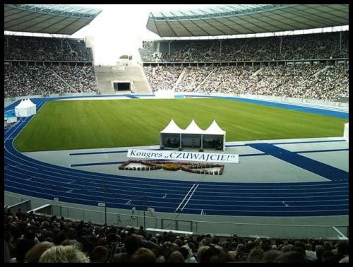 Czuwajcie , Miedzynarodowy Kongres Swiadkow Jehowy . Berlin , Stadion Olimpijski , Lipiec - 2009 #swiadkowie #jehowy #kongres #berlin #religia #czuwajcie