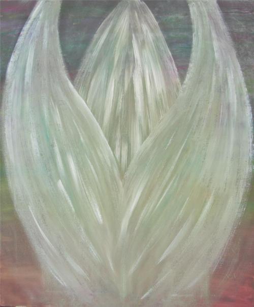 Anioł Podążaj za mną rozm.50x60cm płótno na blejtramie, akwarela do oprawy Obraz dostępny #obrazy #anioły